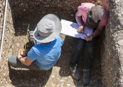 Fouilles archéologique de Thorame-Basse, Alpes de haute Provence   juillet 2019